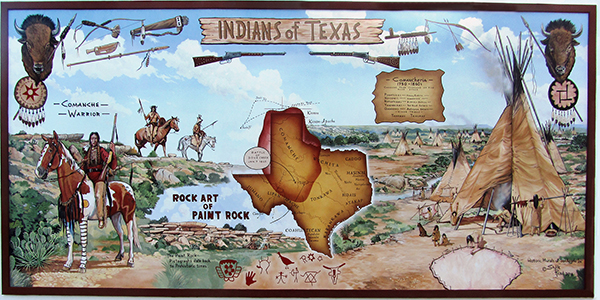 Historic Murals of San Angelo, Texas on indians iowa map, indians new york map, indians in tennessee, indians in north carolina, indians utah map, indians of central texas, indians in texas history, indians in idaho, indians in washington state, indians in pennsylvania, indians ohio map, indians in rhode island, indians in south carolina, tonkawa indians map, indians in north dakota, indians in wisconsin,